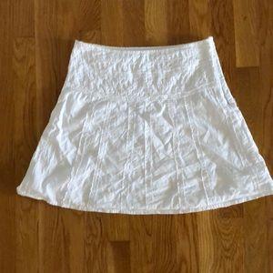 white Prana skirt